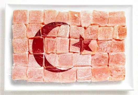 Turkey-Most Creative Flags Made Out Of Food