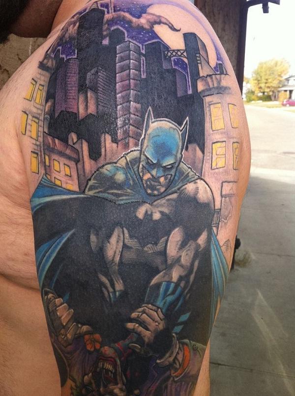 Batman and Joker-Batman 3D Tattoos