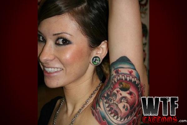 JAWS-Bizarre Armpit Tattoos