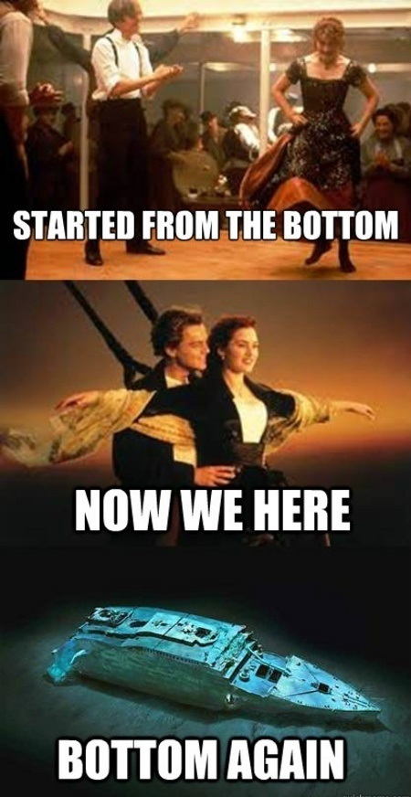 "Moving around-Funniest ""Started From The Bottom"" Memes"