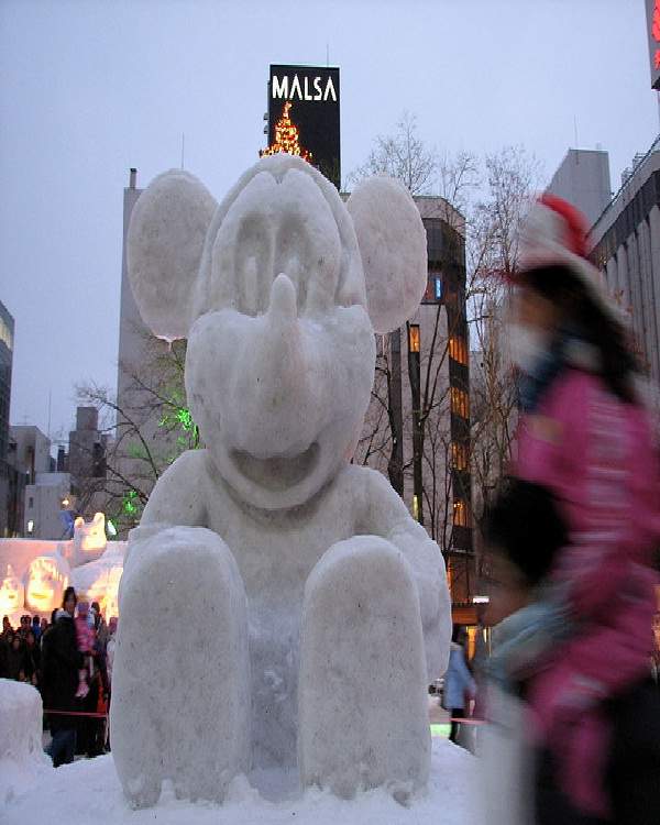 Giant Mickey-Disney Snow Sculptures