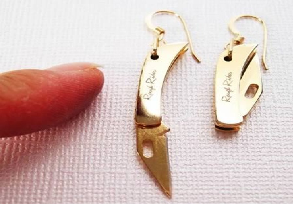 That cant be legal?-Weirdest Earrings Ever