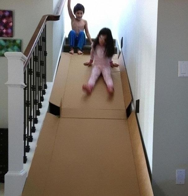 Making stairs interesting-Epic Parenting Wins