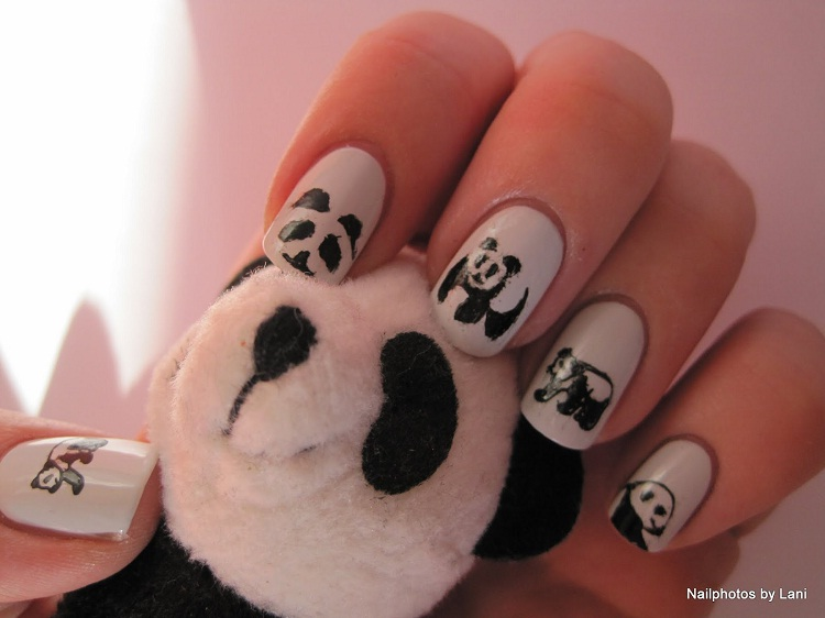 Pandas!-Most Creative Nail Art