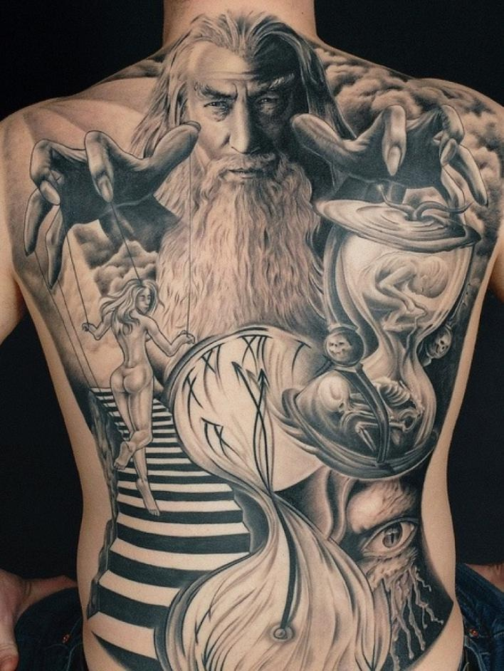 The full back-Best Harry Potter Tattoos