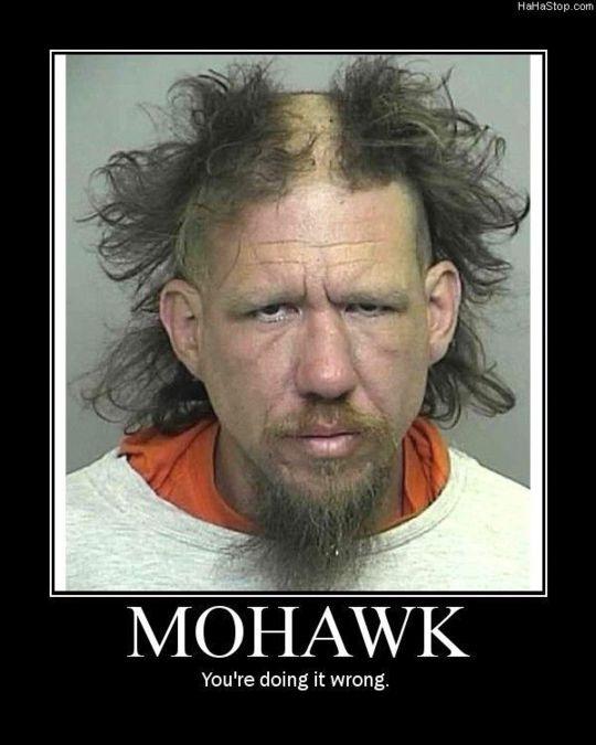 The reverse mohawk-Hilarious