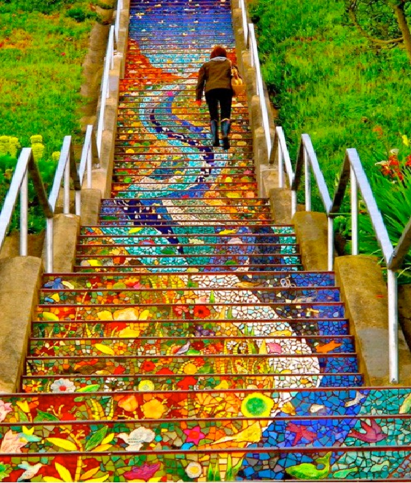 16th Avenue - San Francisco-Amazing Staircases In The World