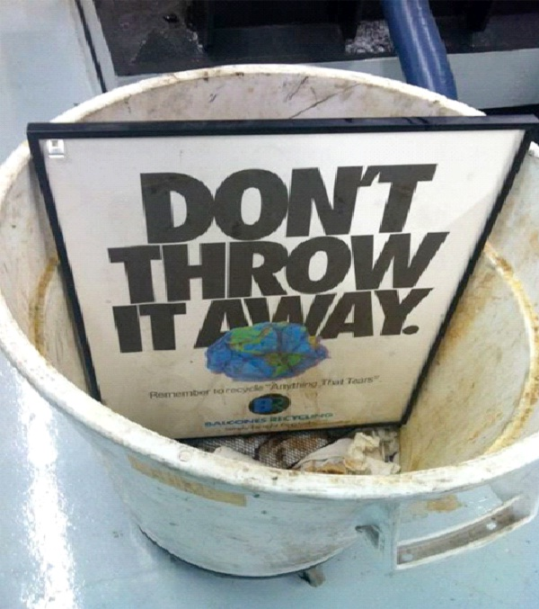 Tossed In The Trash-Most Ironic Pictures