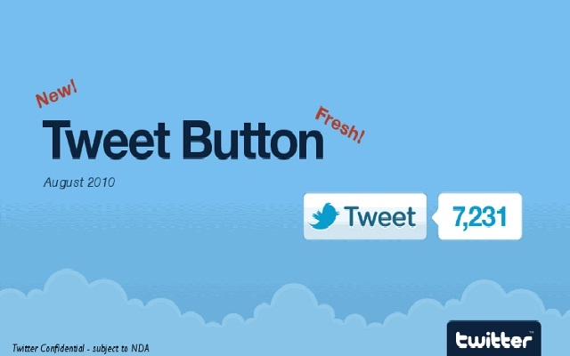 August 2010, Tweet button is launched-Twitter: From Past To Present