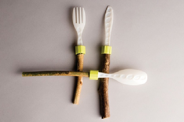 Green utensils-Weirdest Eating Utensils