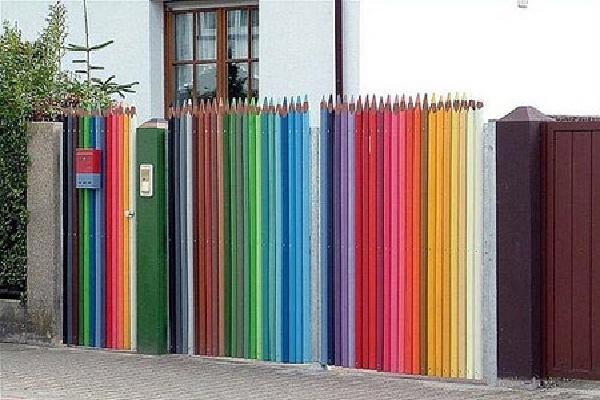 Multi-colored-Most Creative Fences
