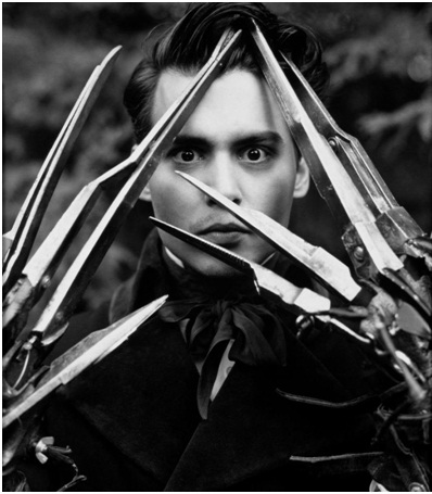 Johnny Depp as Edward Scissorhands-Celebrities From One Movie Role To Another