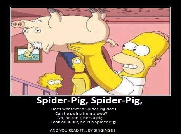 Spiderpig-Best Simpsons Quotes