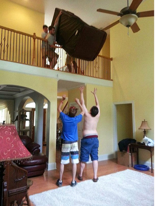 Toss Us The Couch-Photos Of Men Being Literally Too Stupid