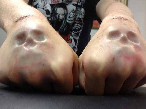 Skull hands-Bizarre Body Modification Implants