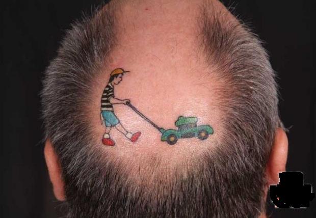 Creative tattoos for Tattoo bald spot