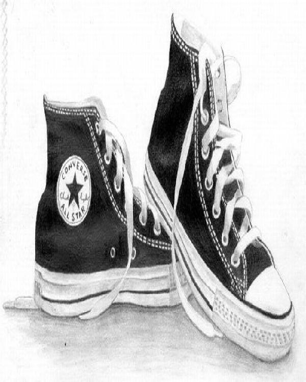 Converse Sketch-Mind Blowing Pencil Art