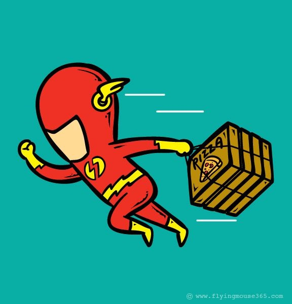 Flash pizza delivery-If Superheroes Had Part Time Jobs