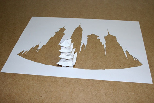 Temple-Papercut Sculptures From Single Sheet Of A4