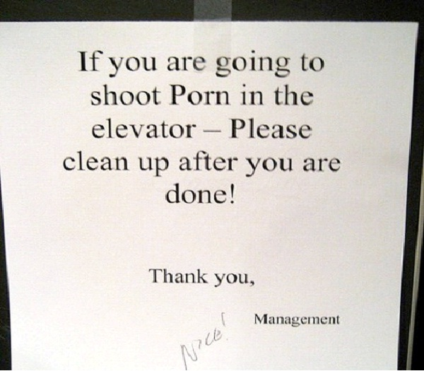 Love In An Elevator-Absolutely Hilarious Elevator Notes