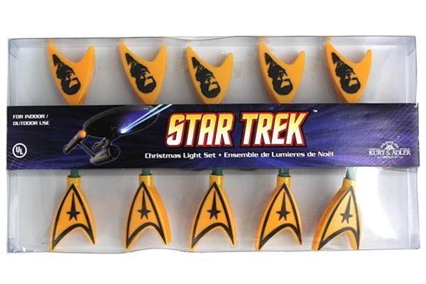 Star Trek lights-Geeky Christmas Decorations