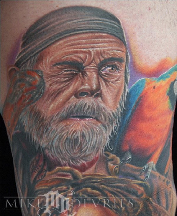 Lifelike-Pirate Tattoos