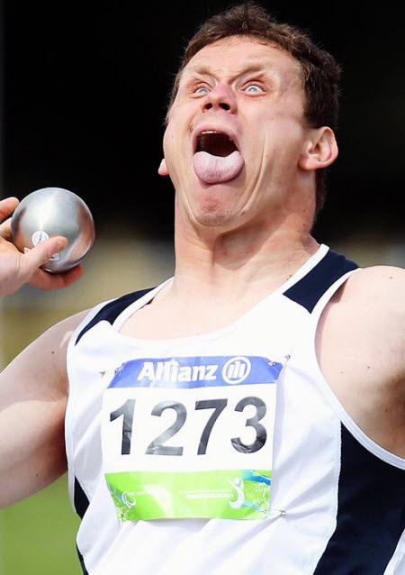 Get that tongue back in-Hilarious Sports Faces