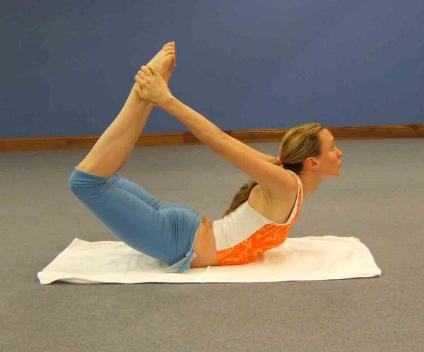 The bow-Simple Yoga Poses To Lose Weight