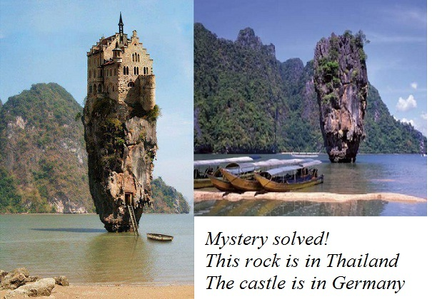 A castle on an island-Viral Photos That Turned Out To Be Fake