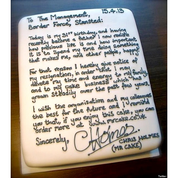 Resignation-12 Hilarious Cake Texts That Will Make You Laugh For Sure