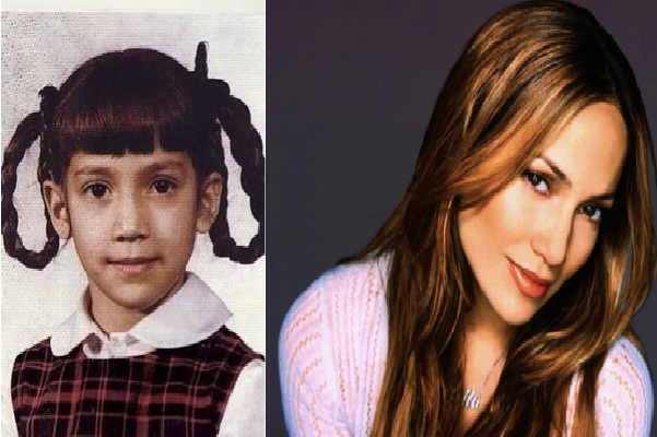 J-Lo-12 Celebrities Who Looked Ugly When They Were Kids