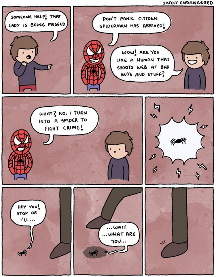 The end of Spiderman-12 Hilarious Plot Twists That Will Make You Laugh Out Loud