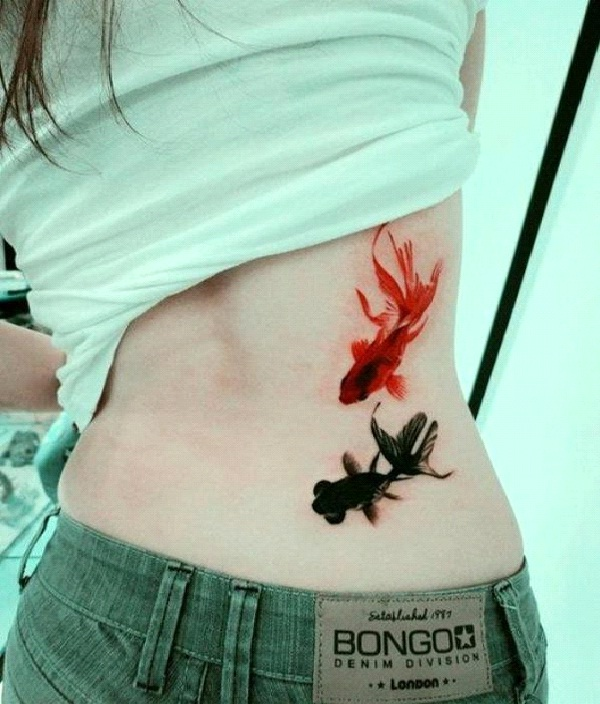 One Fish, Two Fish-Amazing Watercolor Painting Tattoos