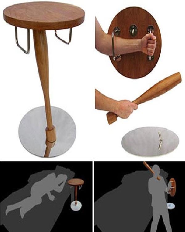 Defensive table-Weird Bedroom Furniture