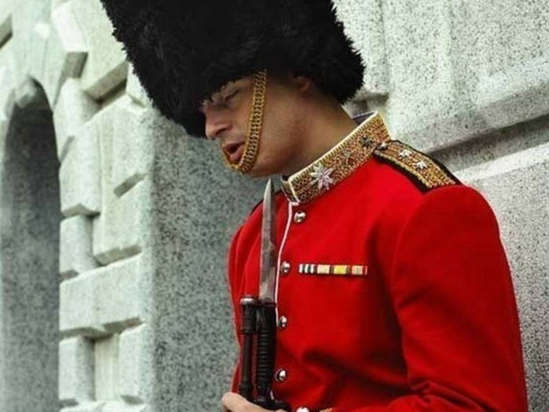 Queen's Guard Caught Sleeping-15 People Who Were Caught Taking A Quick Nap At Work