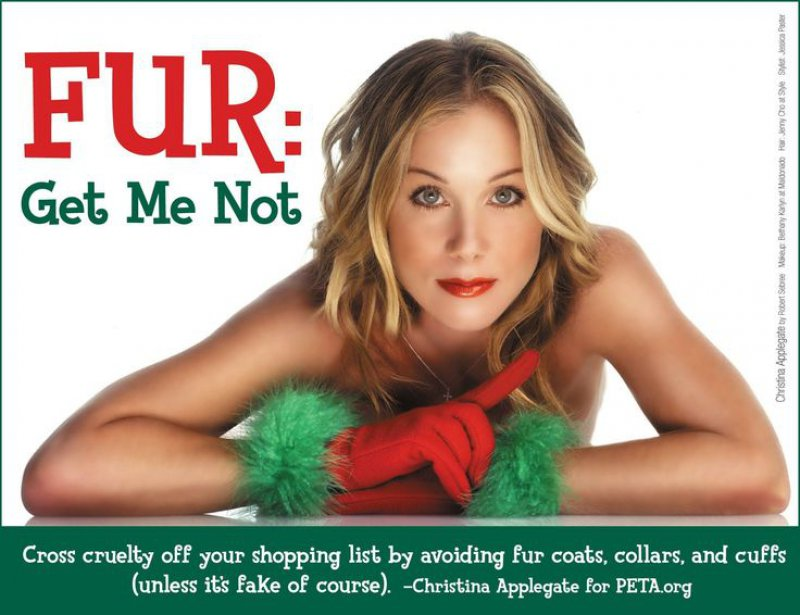 Christina Applegate - Anti-Fur-15 Celebrities Who Have Stripped For Charity
