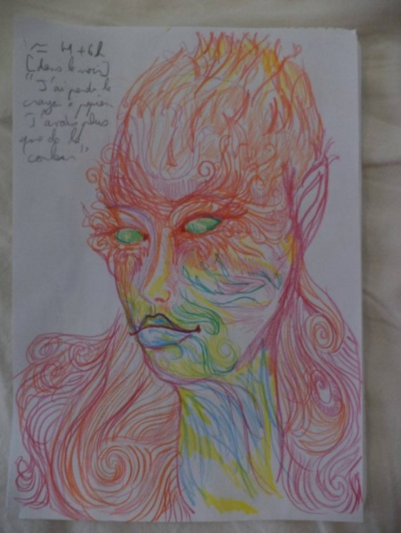 After 6 Hours-A Woman Draws Her Self Portraits During Her First Acid Trip