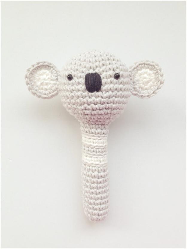 Koala Handcrafted Baby Rattle $25-Best Newborn Girl Gifts 2015