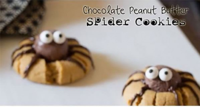 Chocolate Peanut Butter Spider Cookies-15 Funniest Halloween Recipe Fails