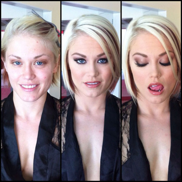 Ash Hollywood-Pornstars With And Without Make Up