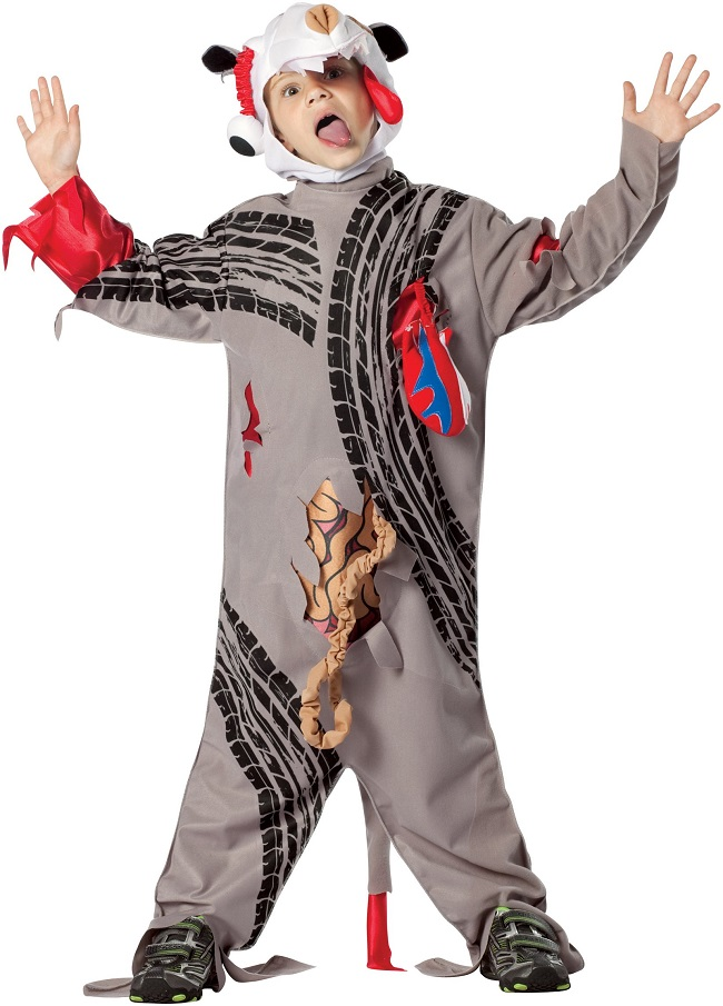 Road Kill Costume-15 Disgusting Kids Halloween Costumes Ever