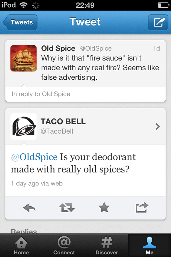 Taco Bell vs. Old Spice-15 Hilarious Twitter Comebacks Ever