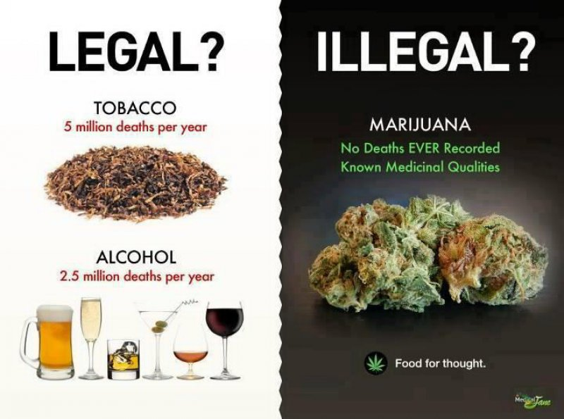 Alcohol And Tobacco Vs. Marijuana-12 Funny Weed Memes That Are Sure To Get Your Sense Of Humor High