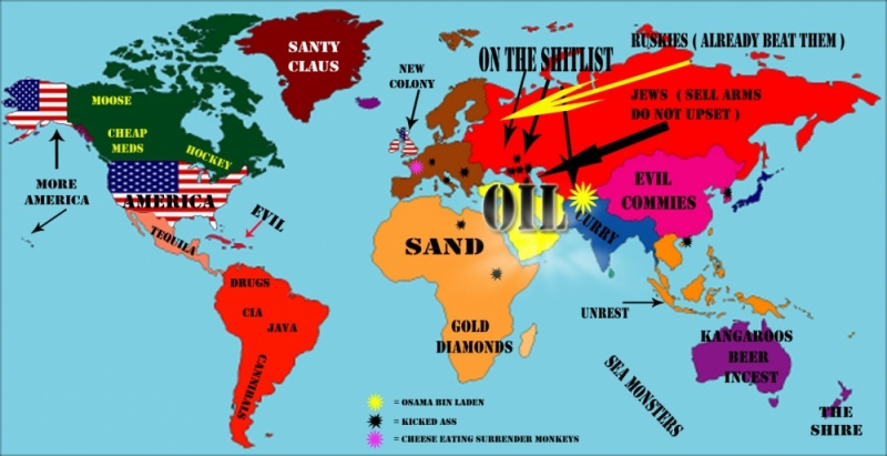 America's View Of The World-12 Funny Maps You Won't See In School