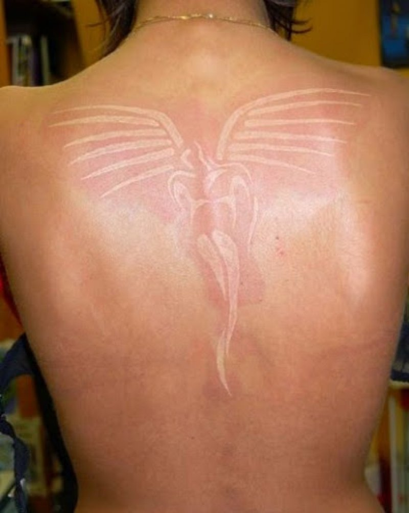 Angel White Ink Tattoo-15 Amazing White Ink Tattoos That You Need To Check Right Now