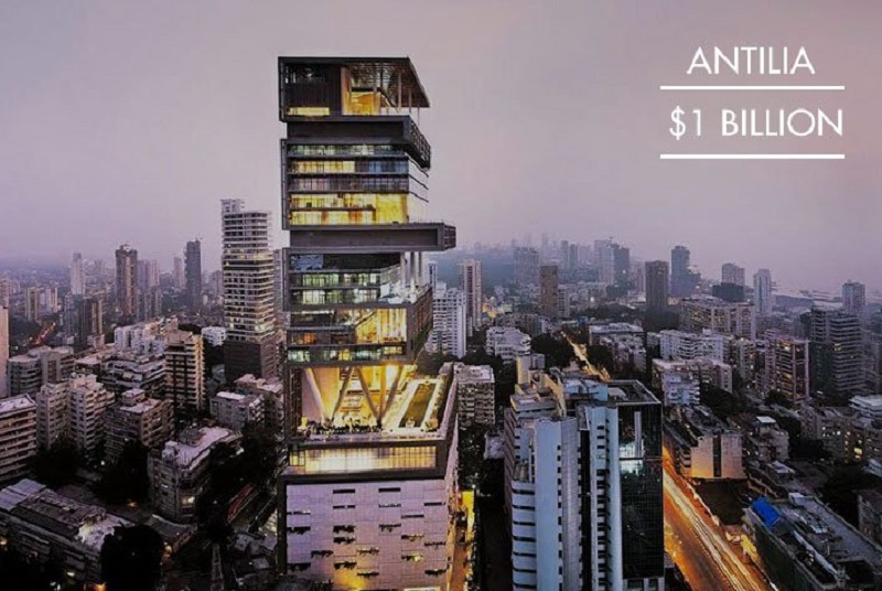 Antilia, Mumbai India-15 Most Expensive Homes In The World