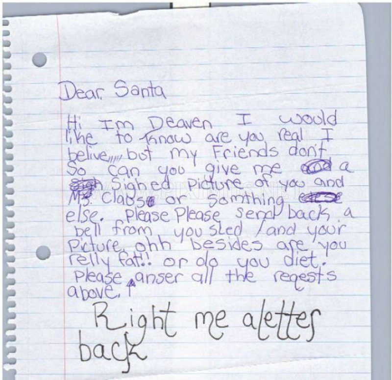 Are You Fat Santa?-12 Hilarious Letters Ever Written To Santa Claus