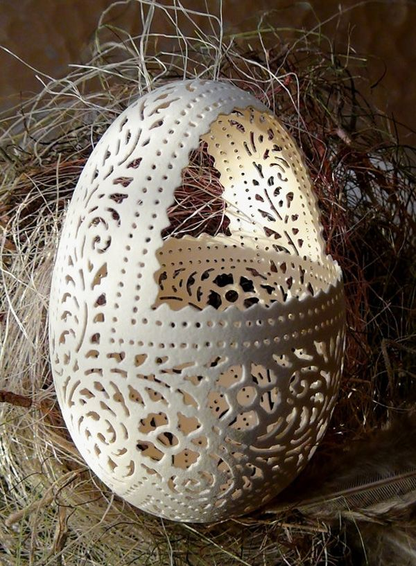 Basket-15 Eggshell Carvings That Are Beautiful