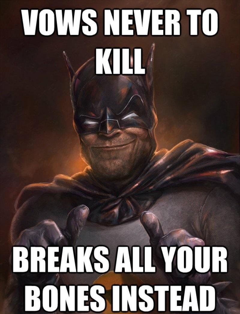 Batman Never Kills!-12 Funny Batman Memes That Will Make You Lol