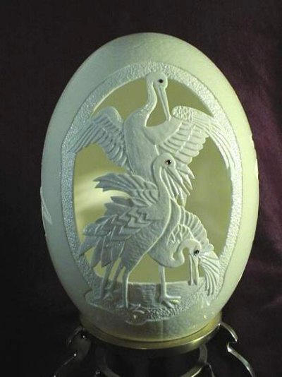 Birds-15 Eggshell Carvings That Are Beautiful